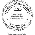 ATA-zertifizierte Übersetzerin