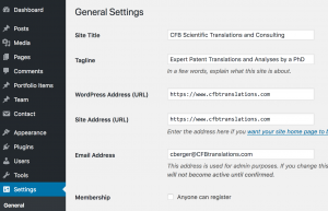 https-Einstellungen in WordPress